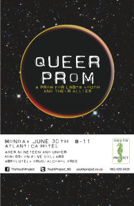 Queer Prom Halifax 2014 Poster
