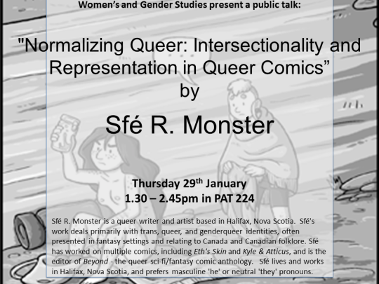 Sfé R Monster Public Talk Poster
