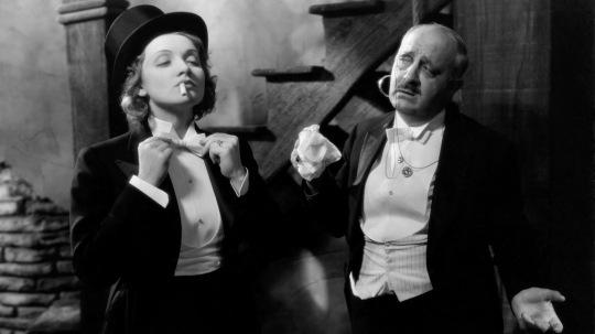 Marlene Dietrich in a tux