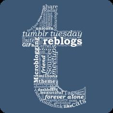 tumblr logo wordle