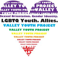 Valley Youth Project rainbow heart logo